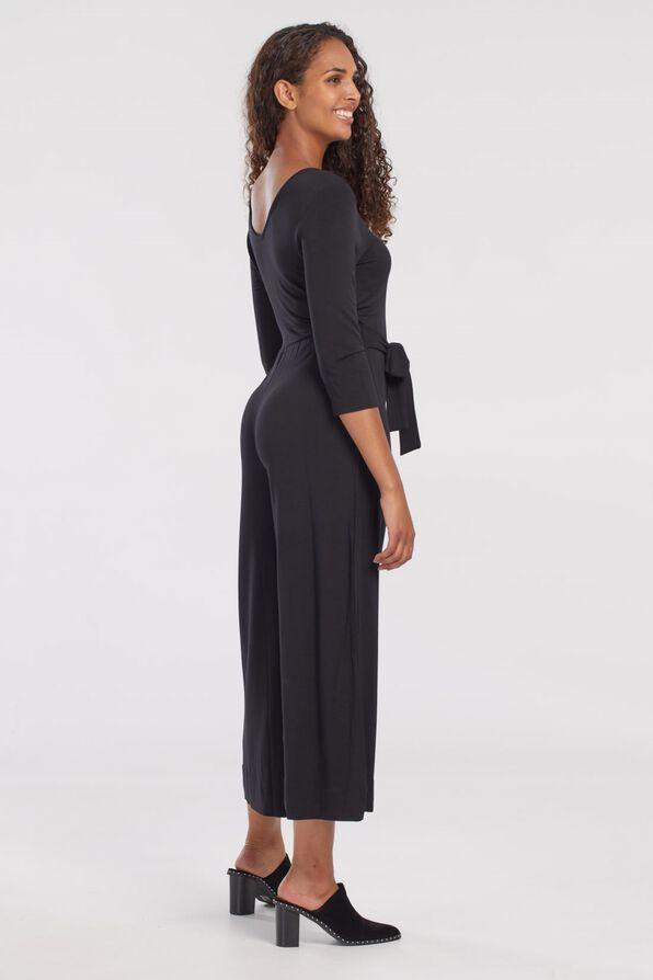 Wide Leg Jumpsuit, Black, original image number 3