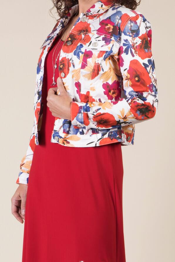 Poppy Denim Jacket, Coral, original image number 1
