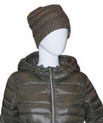 Cable Knit Beanie, Olive, original image number 1