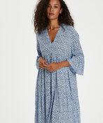 Kaffe Berna Amber Dress with 3/4 Sleeve, Blue, original image number 1