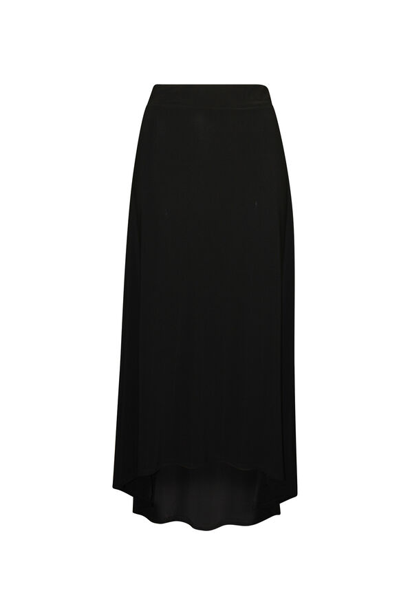Hi-Lo Maxi Skirt, Black, original image number 0