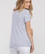 Knotted Striped Tee, Blue, original image number 1
