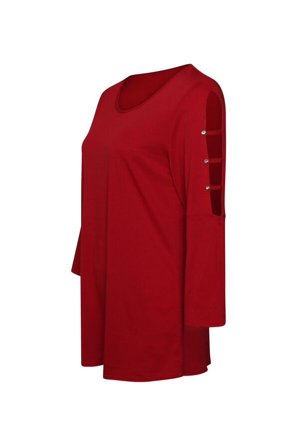 3/4 Lattice Sleeve Top, , original image number 0