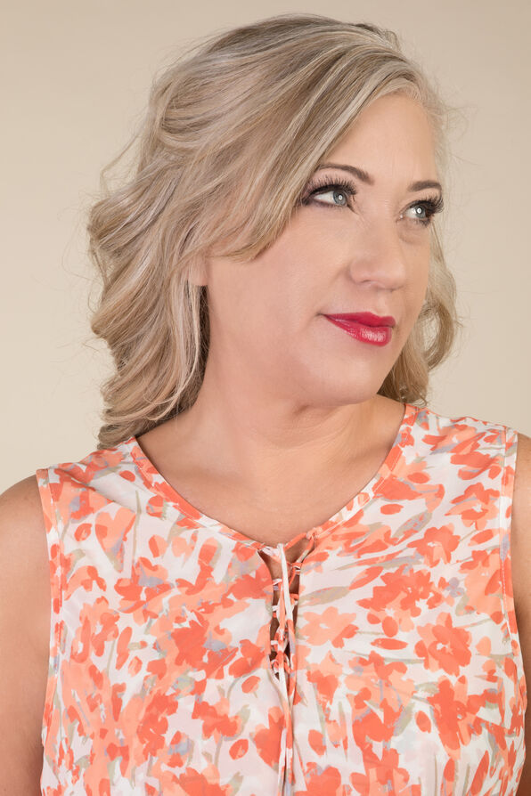 Lauren Sleeveless Blouse, Coral, original image number 2