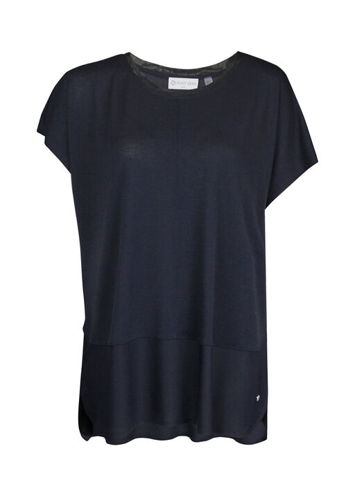 Crew Neck Cap Sleeve T-Shirt, , original