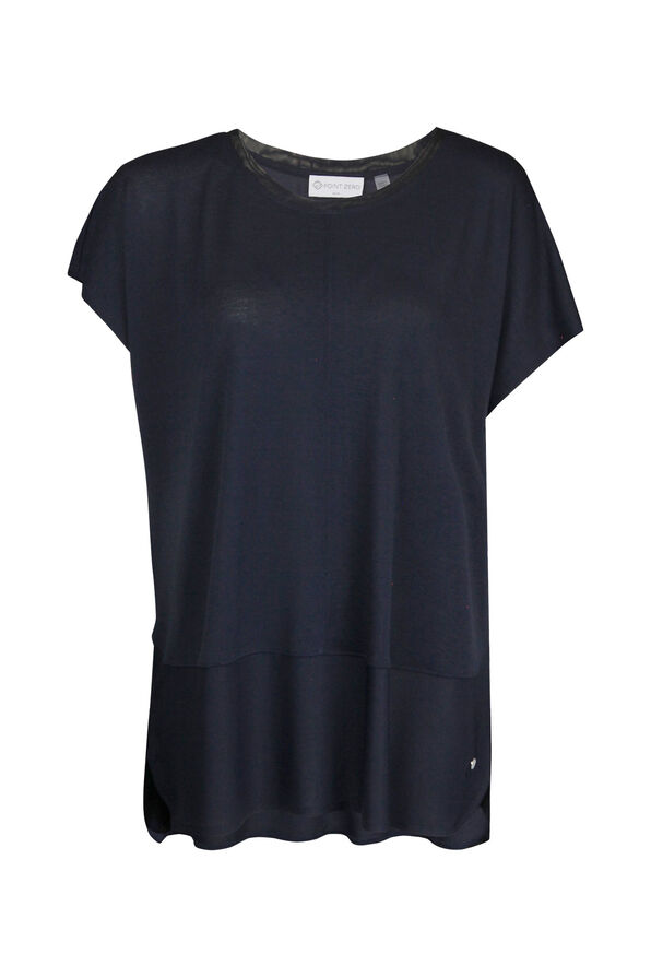Crew Neck Cap Sleeve T-Shirt, , original image number 1