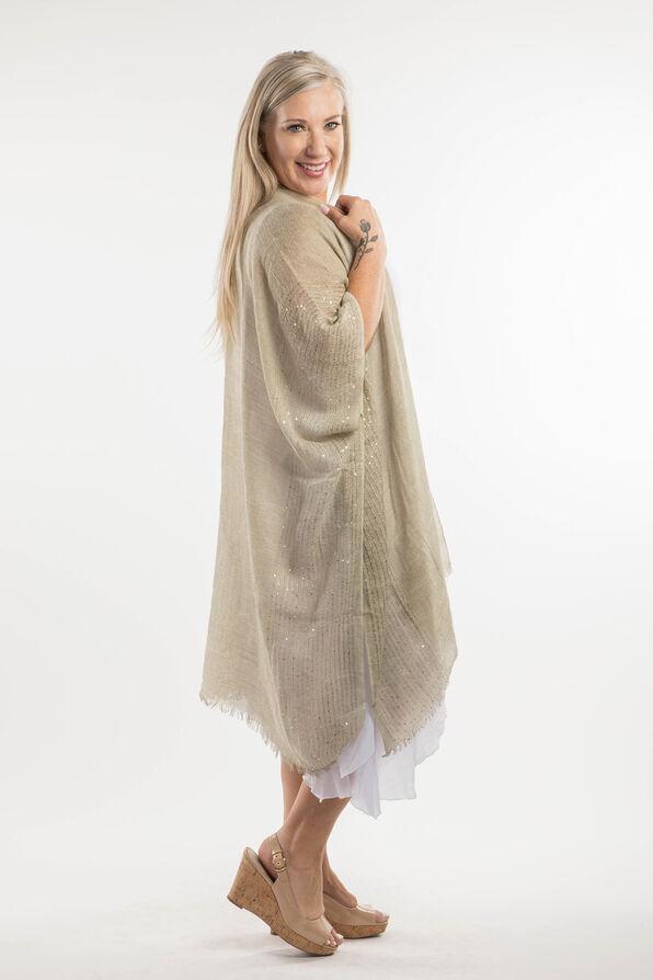 Cotton Kimono with Sequins, Sage, original image number 4