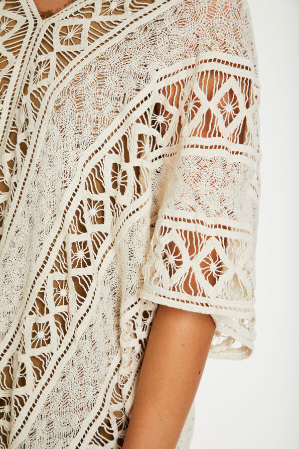 Crochet Bodilma Poncho, Cream, original image number 3