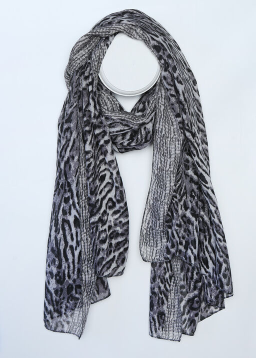 Snow Leopard Fashion Scarf , , original