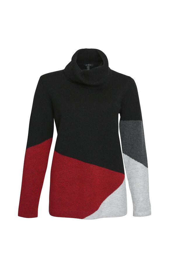 Talia Colour Block Sweater, Red, original image number 0