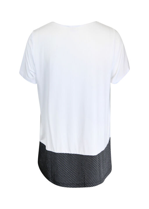 Stripe Colour Block T-Shirt, White, original