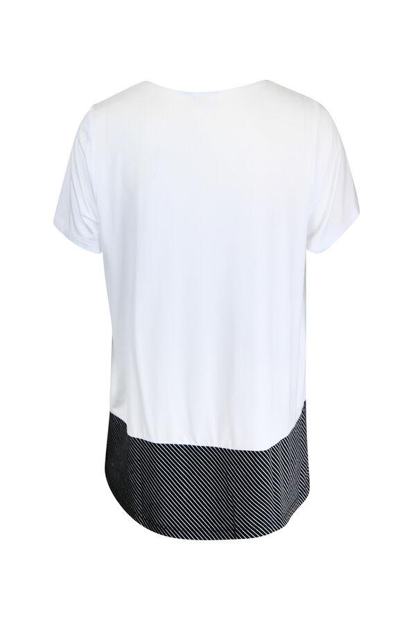 Stripe Colour Block T-Shirt, White, original image number 1