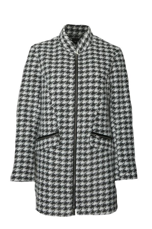 Sleek Houndstooth Jacket, Black, original image number 0