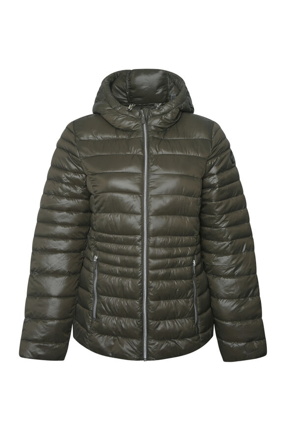 Packable Short Ultralight Hooded Puffer Coat , , original image number 1