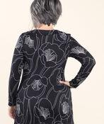 Knit Tunic Long Sleeve, Black, original image number 1