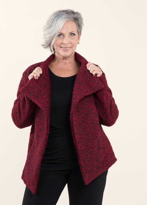 Retro Look Boucle Jacket, Wine, original
