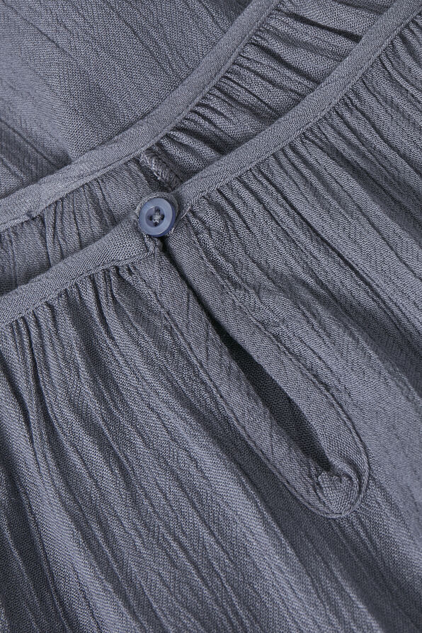 Kaffe Crinkle Tunic with Keyhole and 3/4 Sleeves, Grey, original image number 4