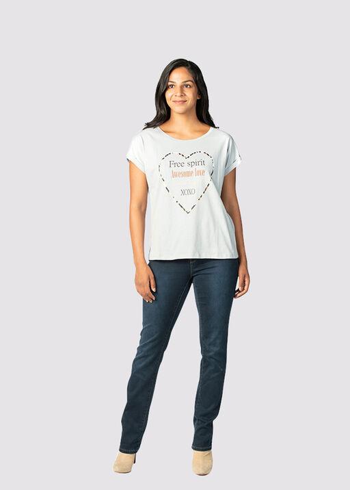 Multi-Metallic T-Shirt, Blue, original