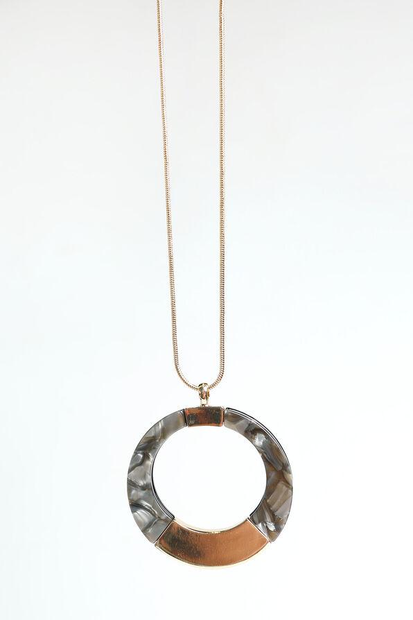 Reversible Statement Necklace , Gold, original image number 0
