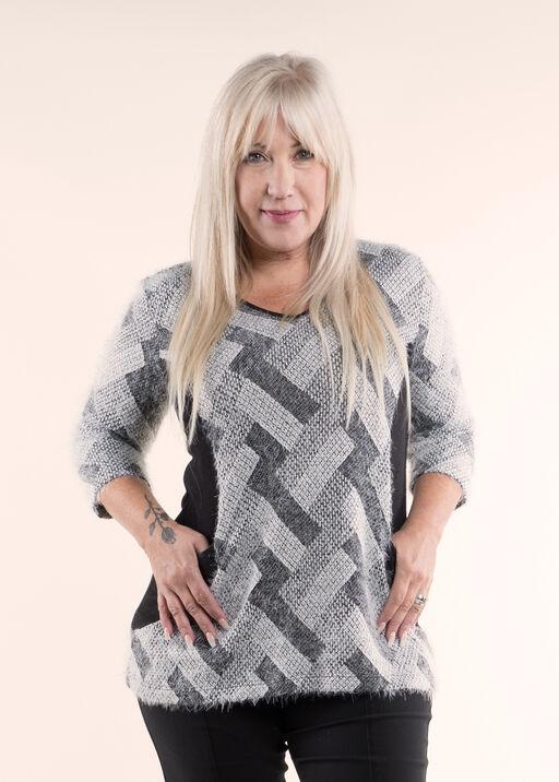 Fun and Funky Eyelash Sweater Knit Tunic, , original