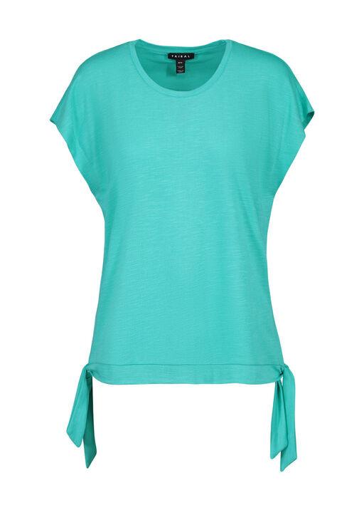 Cap Sleeve T-Shirt with Side Ties, , original