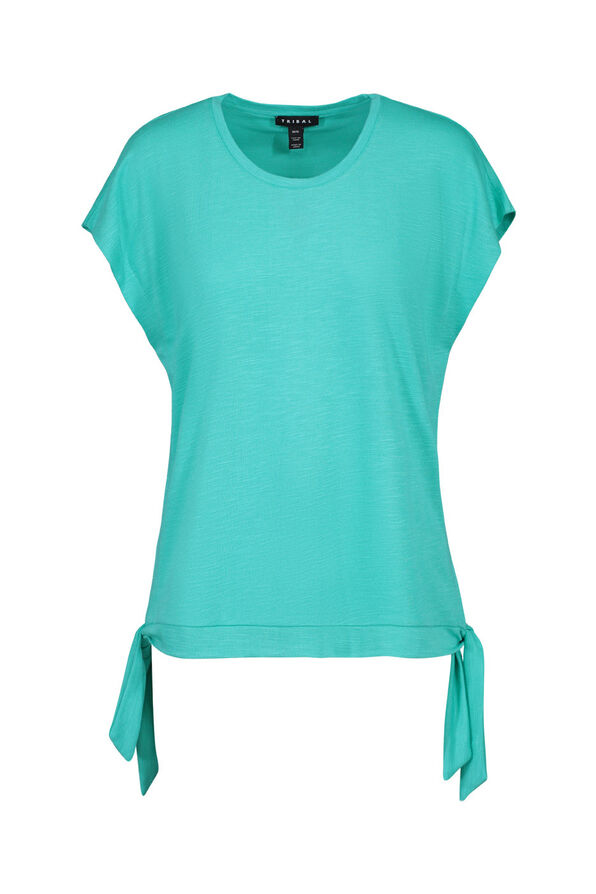 Cap Sleeve T-Shirt with Side Ties, , original image number 0