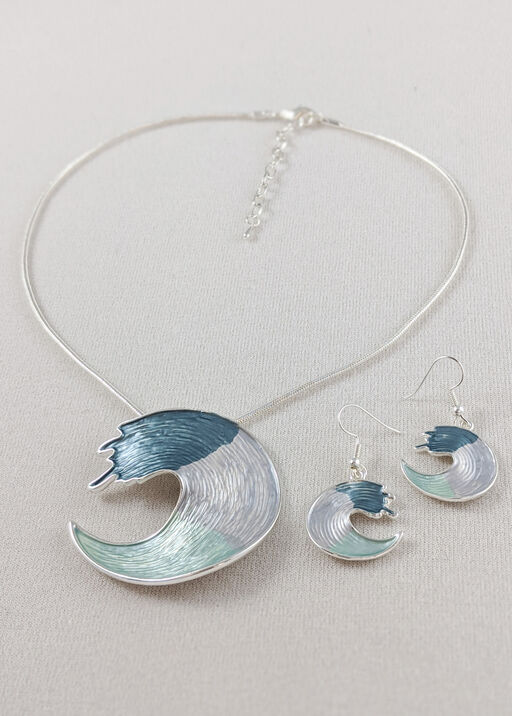 Making Waves Necklace and Earrings Set, , original