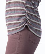 Mauve Stripes V-Neck, Purple, original image number 3