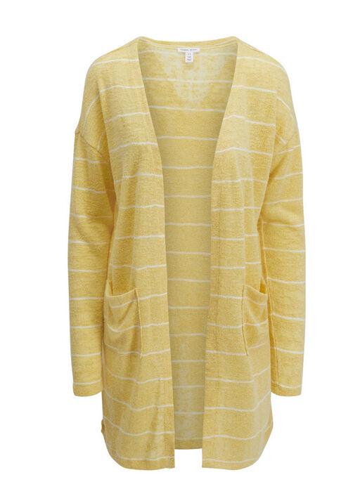 Tribal Striped Long Cardigan, , original