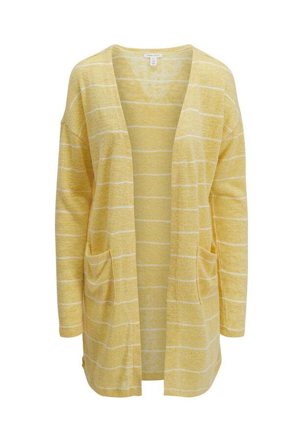 Tribal Striped Long Cardigan, , original image number 0