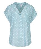 Polka Dot Camp Shirt, Blue, original image number 0
