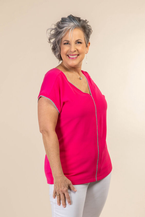 Silver Lining Top, Pink, original image number 0