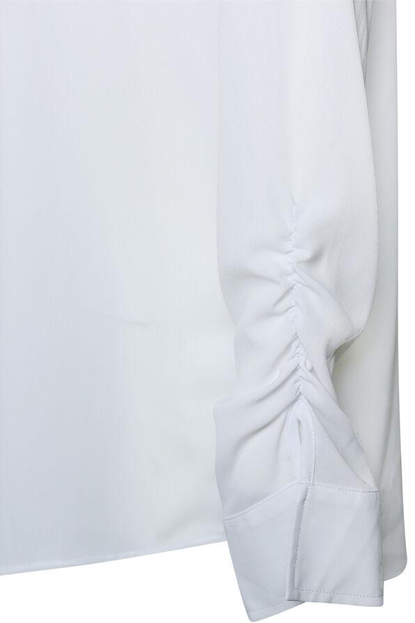 Sheer Long Sleeve Blouse, White, original image number 2