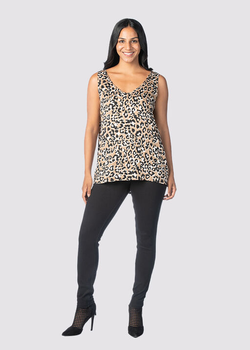 Cheetah-Chic Tank, Beige, original