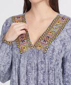Verona Embroidered Blouse, Blue, original image number 2