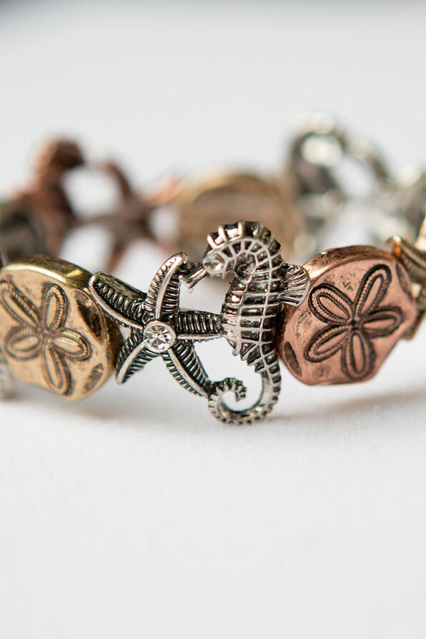 Sea Life Stretch Bracelet, Multi, original image number 1