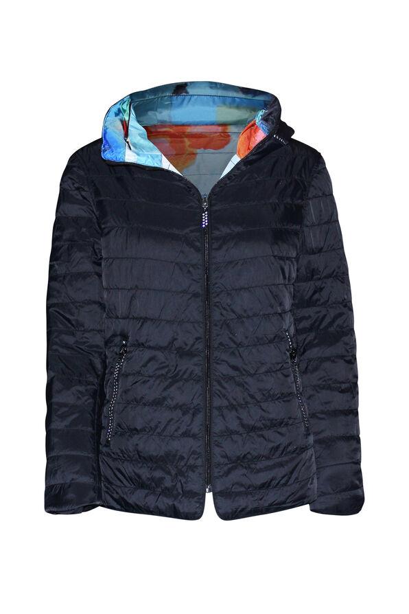 In the City Reversible Jacket with Hidden Hood, Orange, original image number 1