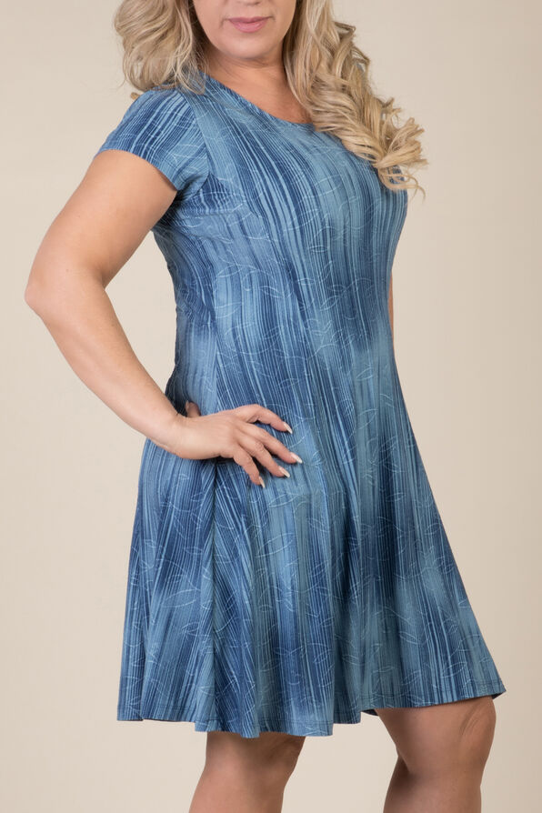 Adeline Shift Dress, Denim, original image number 1