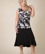Ruffle Hi Lo Skirt, Black, original image number 2