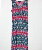 Patterned Maxi Dress, Fuschia, original image number 1