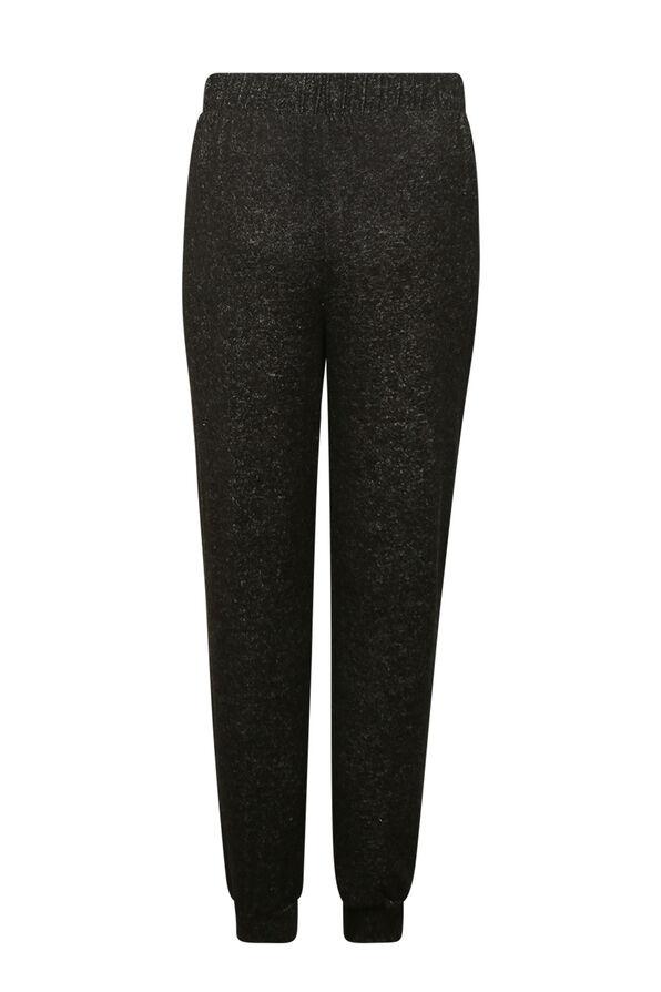 Butter Fleece Jogging Pants, Black, original image number 2