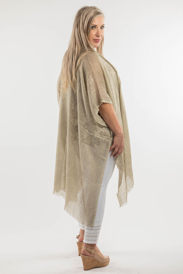 Cotton Kimono with Sequins, Sage, original image number 6