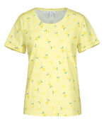 Lemon Print Cuffed T-Shirt, Yellow, original image number 3