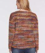 Space-Dye Eyelash Sweater, Rust, original image number 1