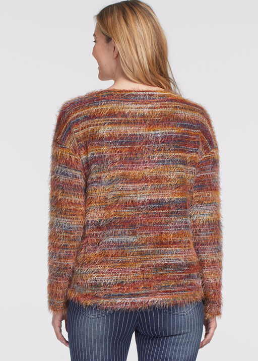 Space-Dye Eyelash Sweater, Rust, original