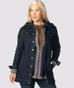 Nicolette Maxi Denim Jacket , Indigo, original image number 1