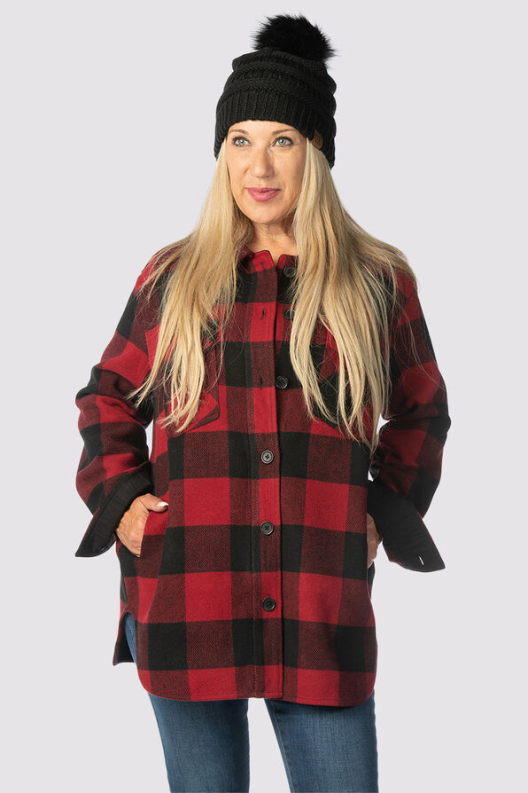 Suzanne's Plaid Shacket, Red, original image number 5