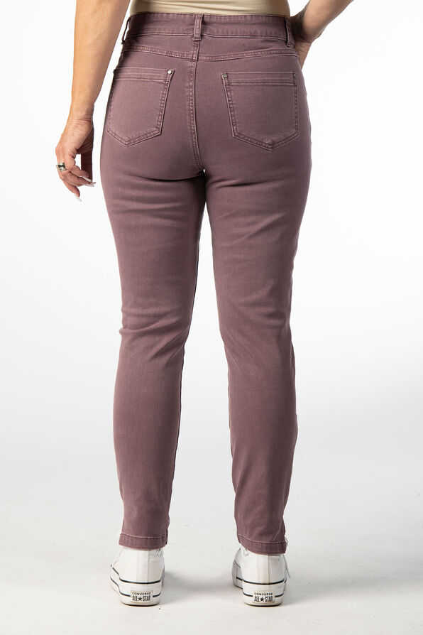 PULL ON PANT WITH FRONT YOKE DETAIL, Rust, original image number 3