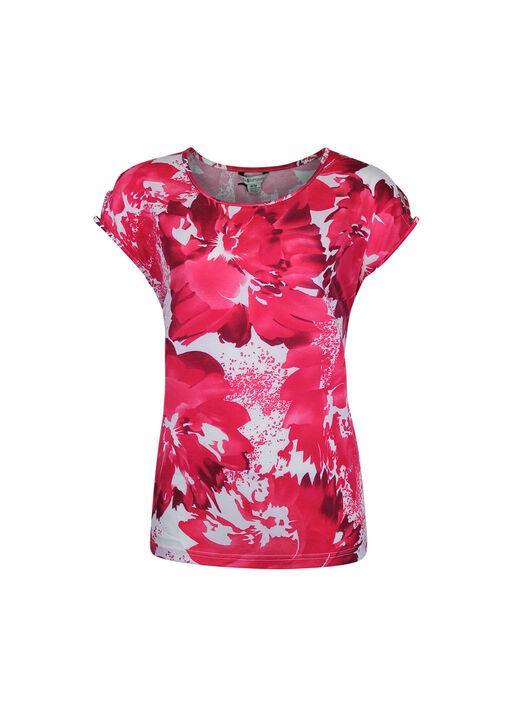Lattice Shoulder Short Sleeve Top, , original