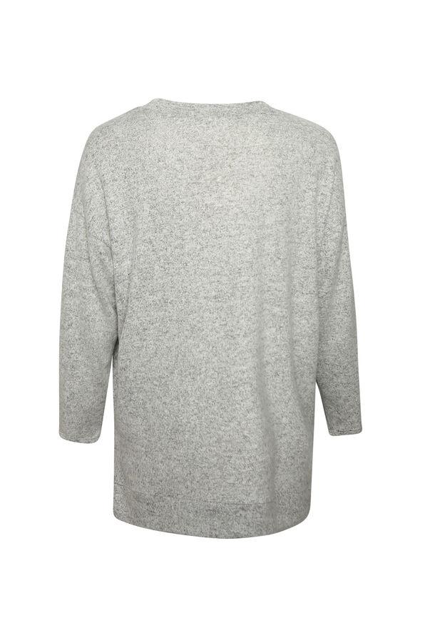 Butter Fleece Crew Neck Long Sleeve, Grey, original image number 1